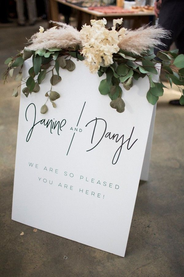 Top 20 Simple Minimalist Welcome Wedding Signs | Roses & Rings - Part 2