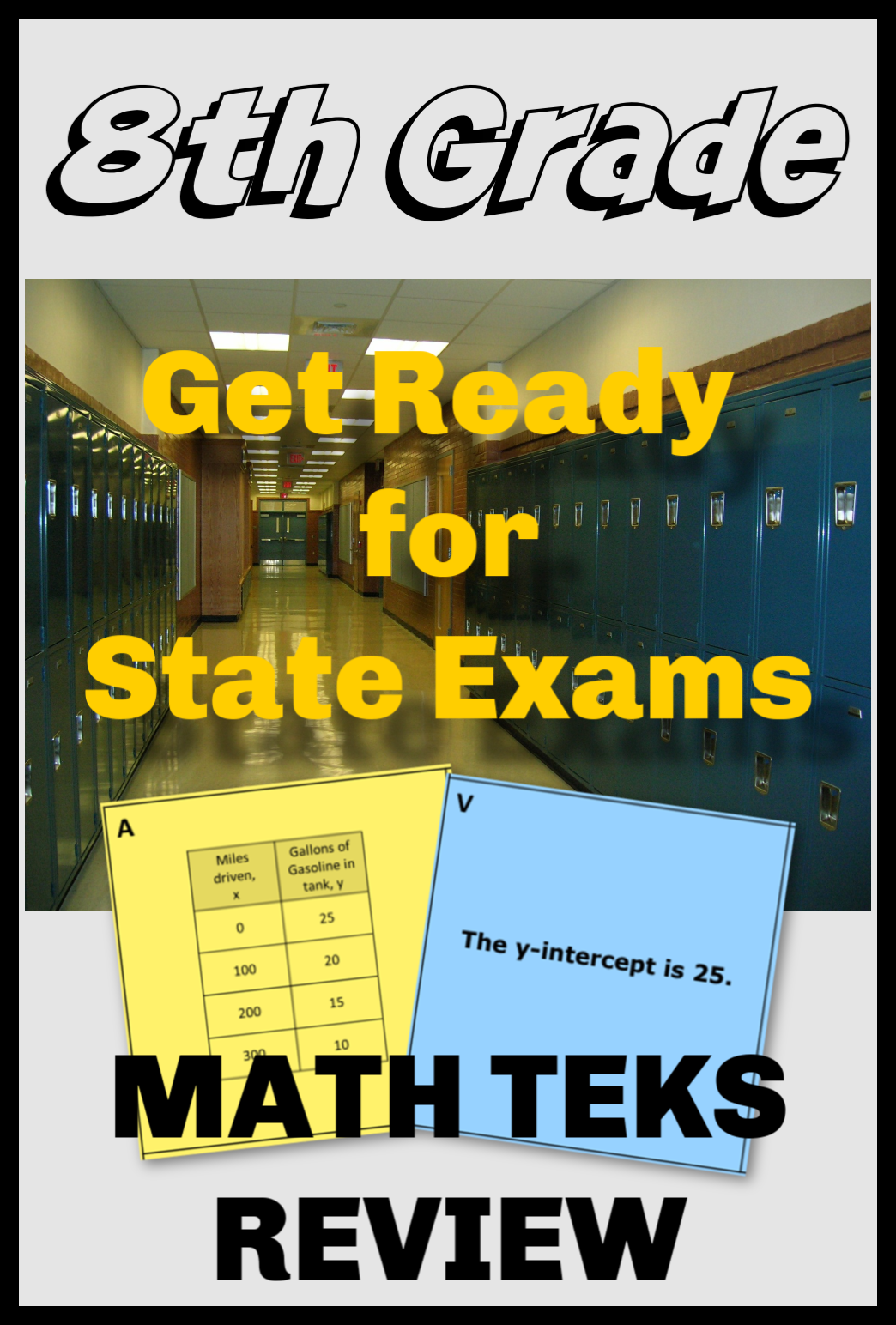 8th Grade Math Teks Review Bundle In With Images