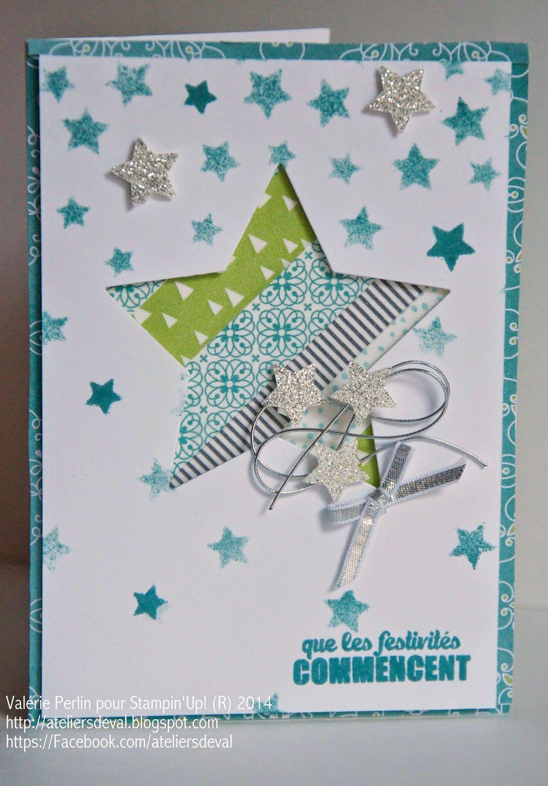 Les Ateliers de Val: Carte étoile de Noël | Carte etoile, Carte