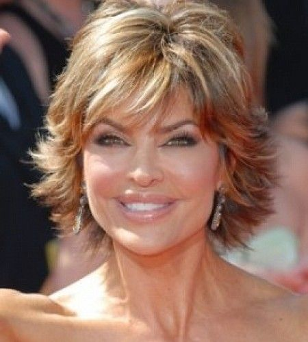 Informal Short Layered Haircuts For Women Over 40 450x500 Jpg 450 500 Pixels Short Hair With Layers Short Hair Highlights Thick Hair Styles