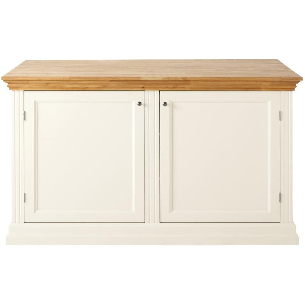 Martha Stewart Living Addison 60 In. W Wood 4 Drawer Kitchen Baking Island  In