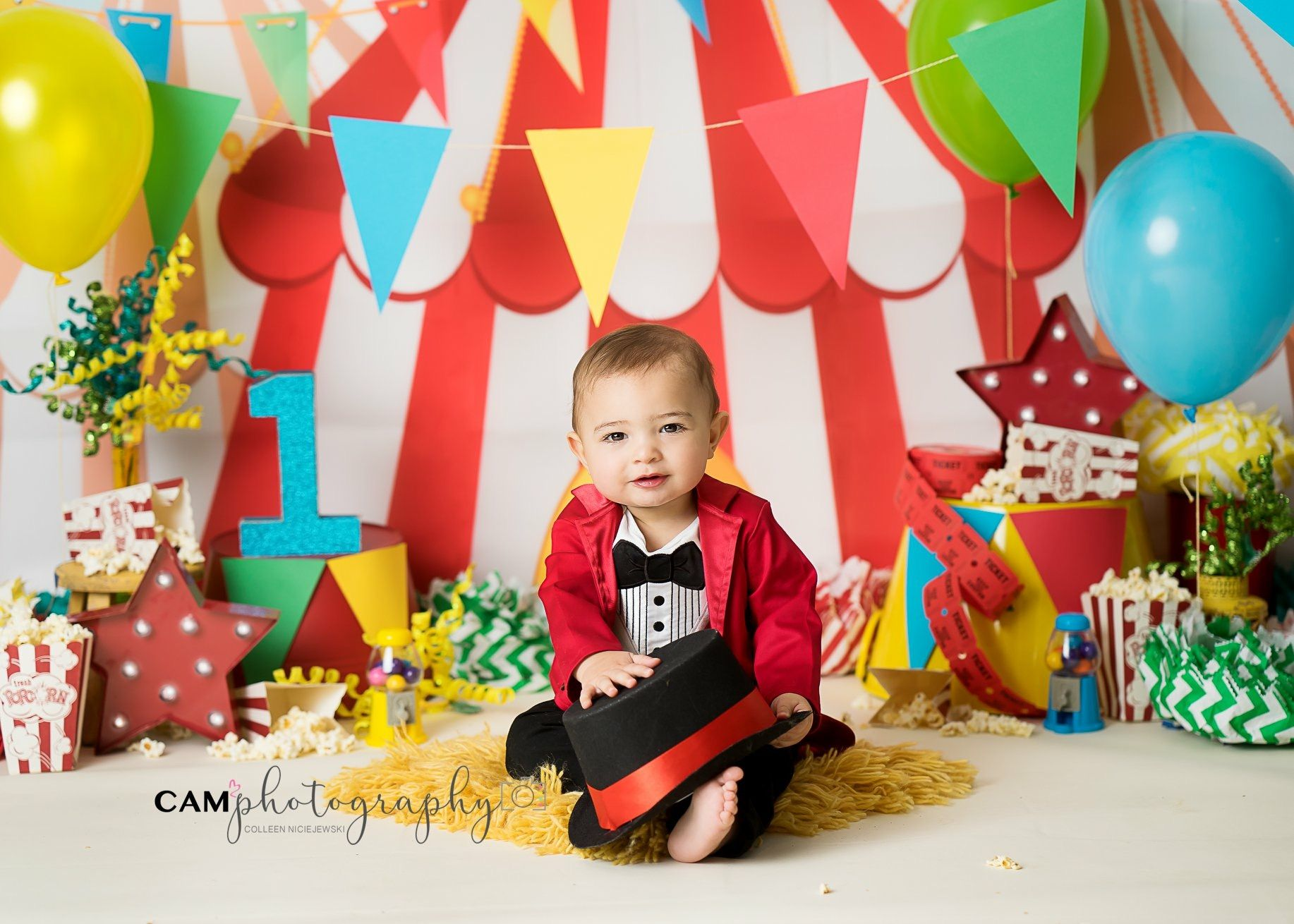 The Greatest Showman Circus Master Of Ceremonies Big Top Child Photographer Cak Circus 1st Birthdays Circus Birthday Party Theme Circus First Birthday