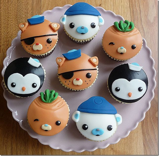 octonauts birthday cupcakes