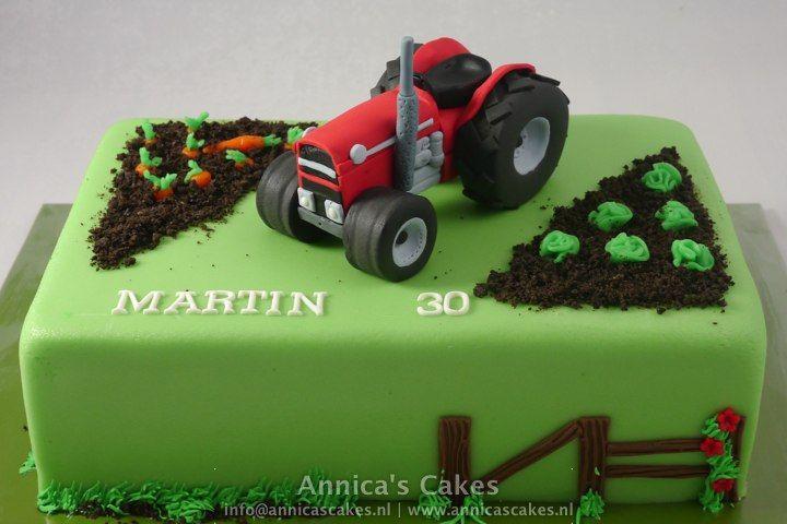 Tractor Taart Traktor Torte Kinder Torten Geburtstagsideen