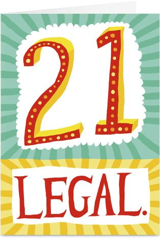 21st Birthday Free Scrapbook Printables