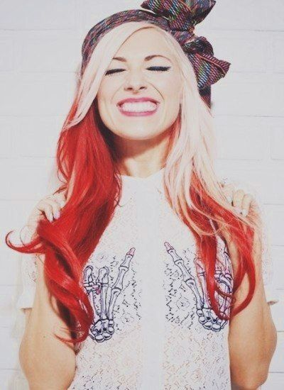 34++ Platinum blonde hair with red underneath ideas