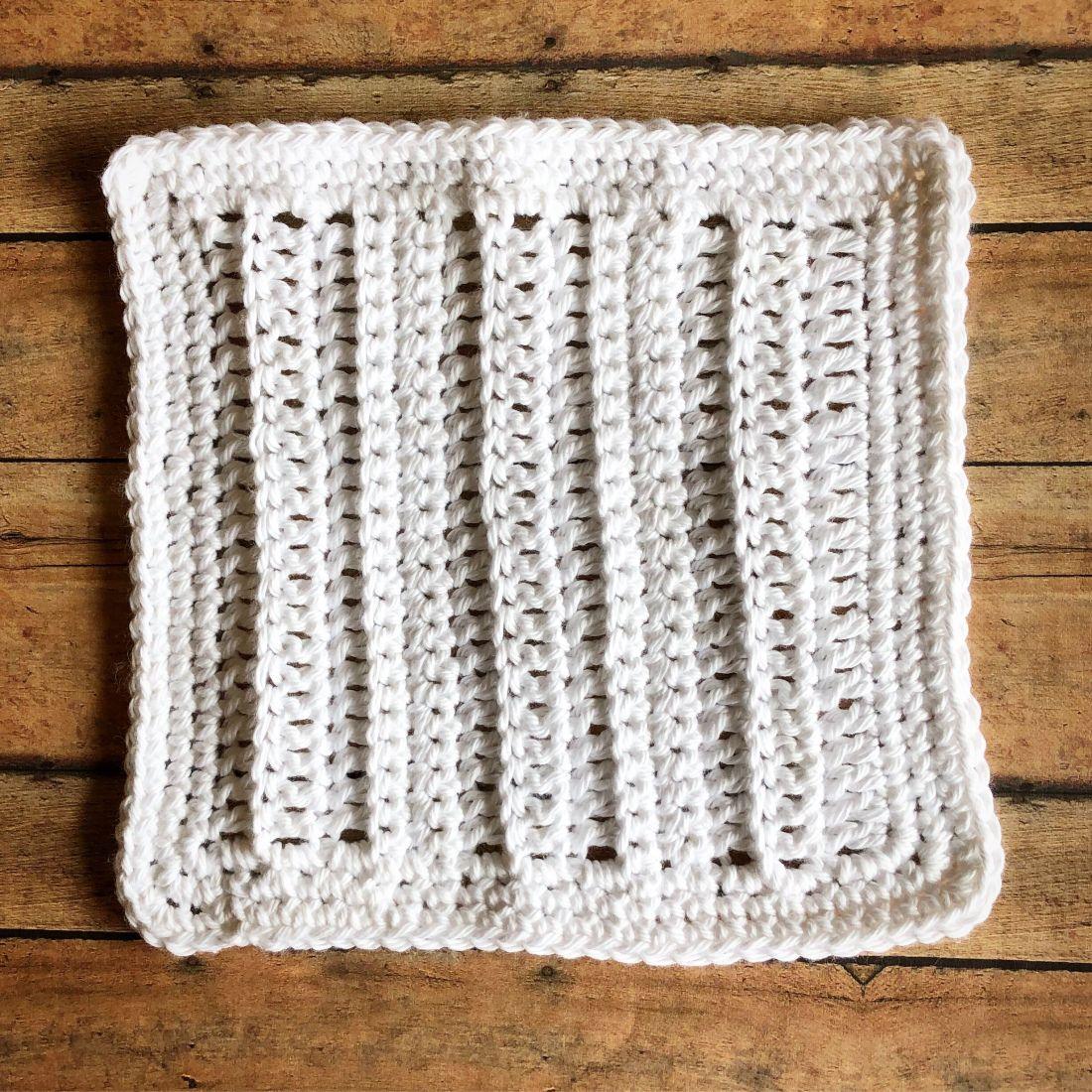 Crochet White Cotton Ribbed Dishcloth | Hookin\' Dishcloths. | Pinterest