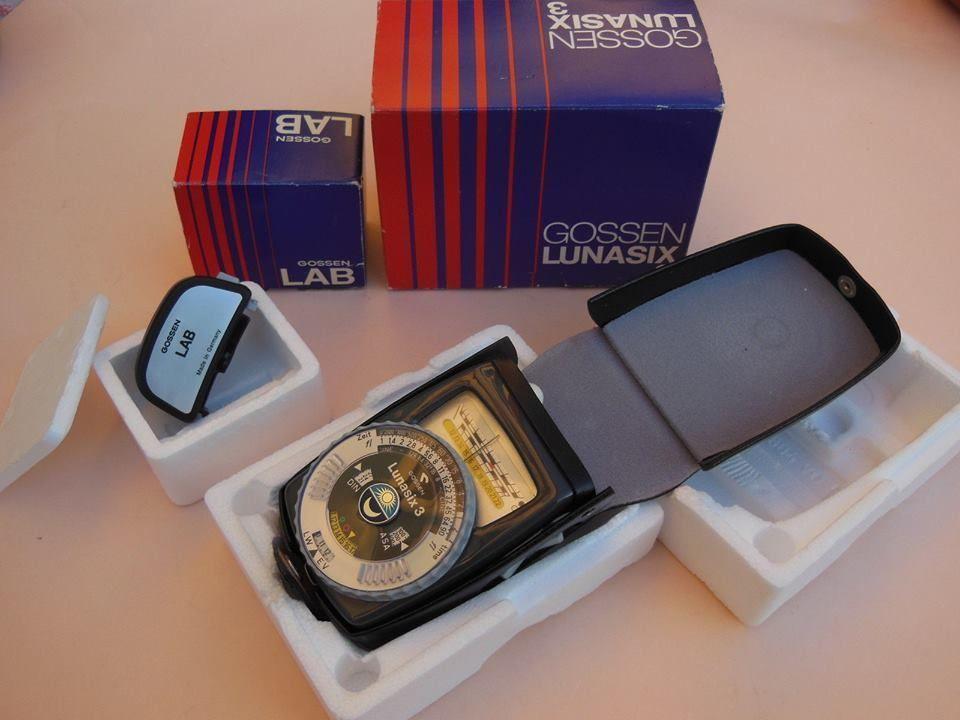 GOSSEN Lunasix 3 Professional Lightmeter + Gossen Lab + boxes and case AS MINT!