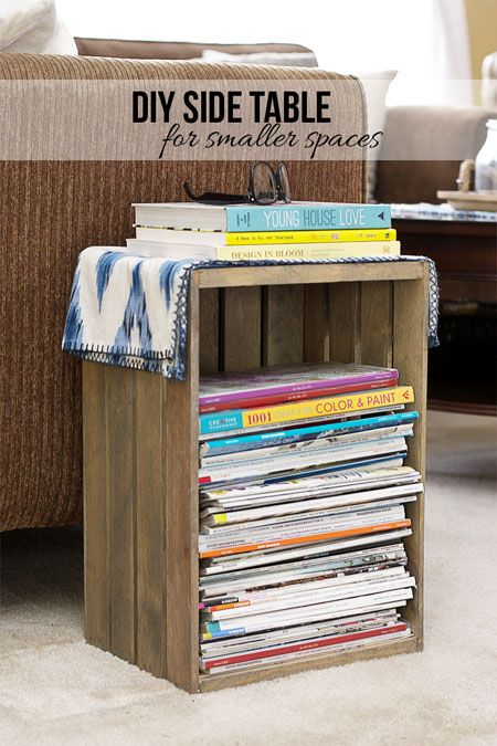 Good DIY Side Table Thatu0027s Perfect For Your Small Space