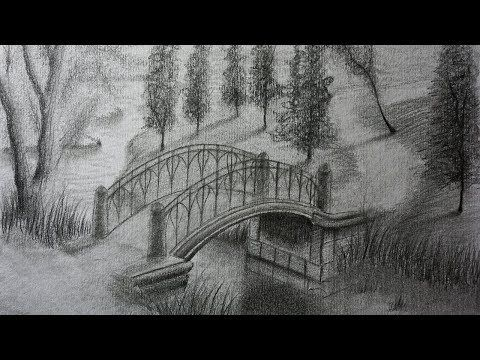 Cómo Dibujar Un Paisaje A Lápiz Paso A Paso Casita En El Monte Paisaje De Campo Youtube Paisaje A Lapiz Dibujos Paisajes A Lapiz Puentes Dibujo