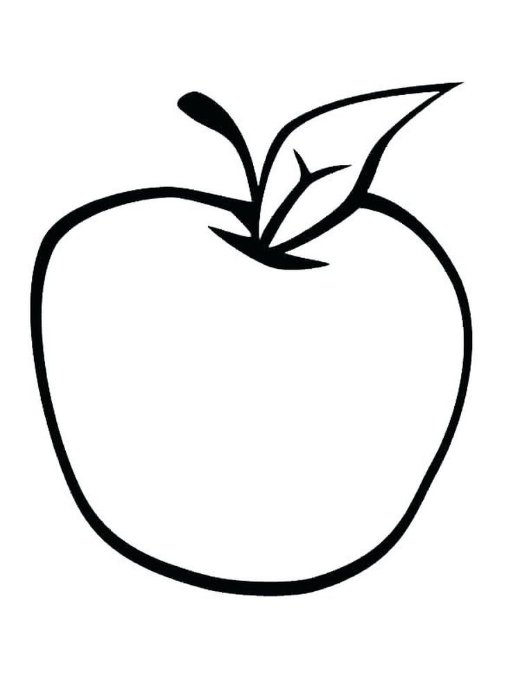 Apple Coloring Page Template Apples Are One Of The Fruits That Many People Like Apart From Its Taste Apple Coloring Pages Apple Coloring Fruit Coloring Pages