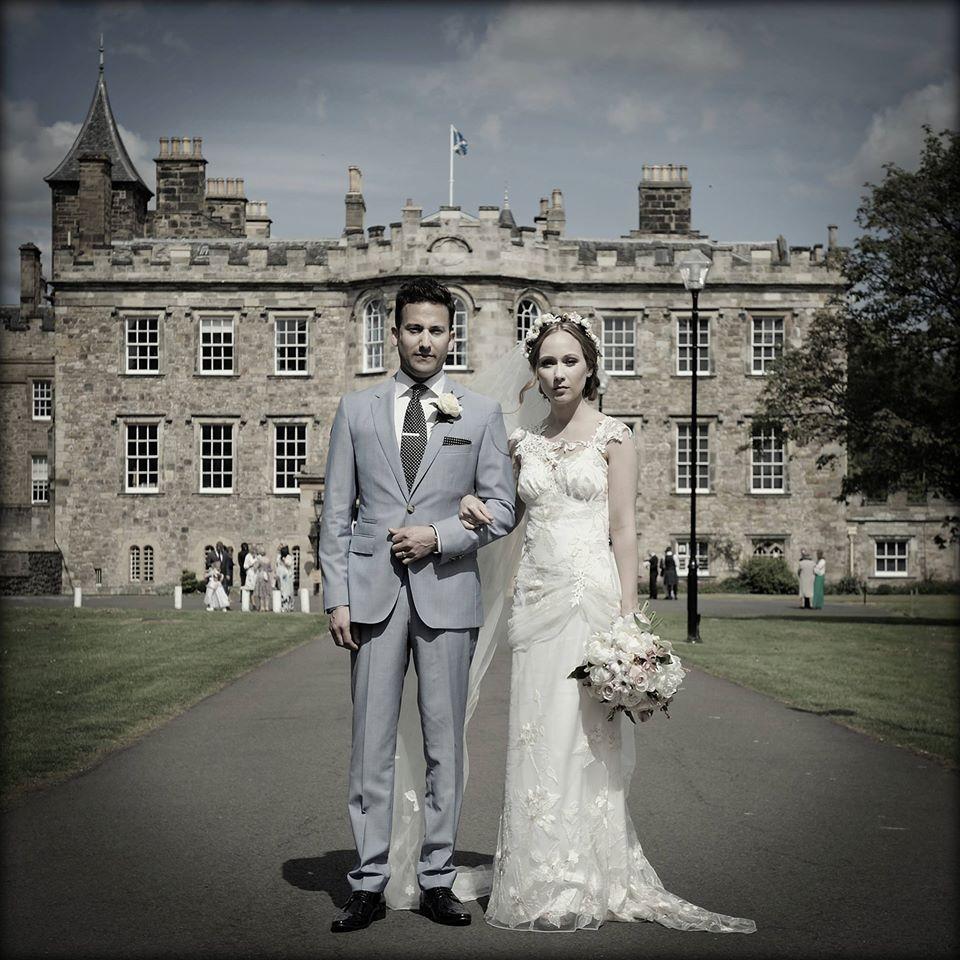 Congratulations to gorgeous real bride Sophie who wore the Claire Pettibone 'Adagio' wedding dress! http://www.clairepettibone.com/adagio