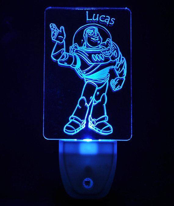 Disney Toy Story Buzz Lightyear Light Sensor Led Plug In Night