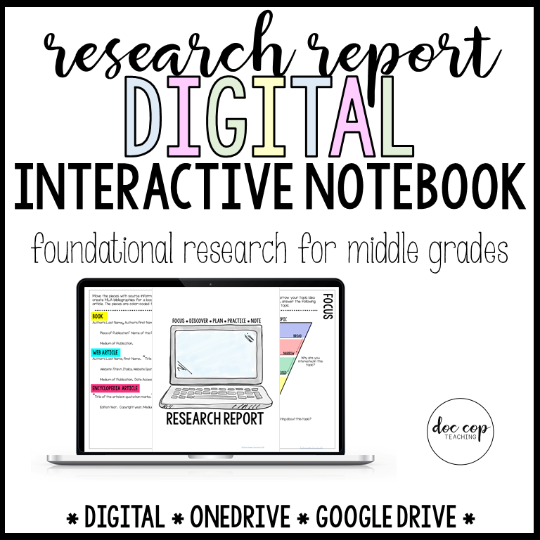 Research Report Digital Interactive Notebook for Middle