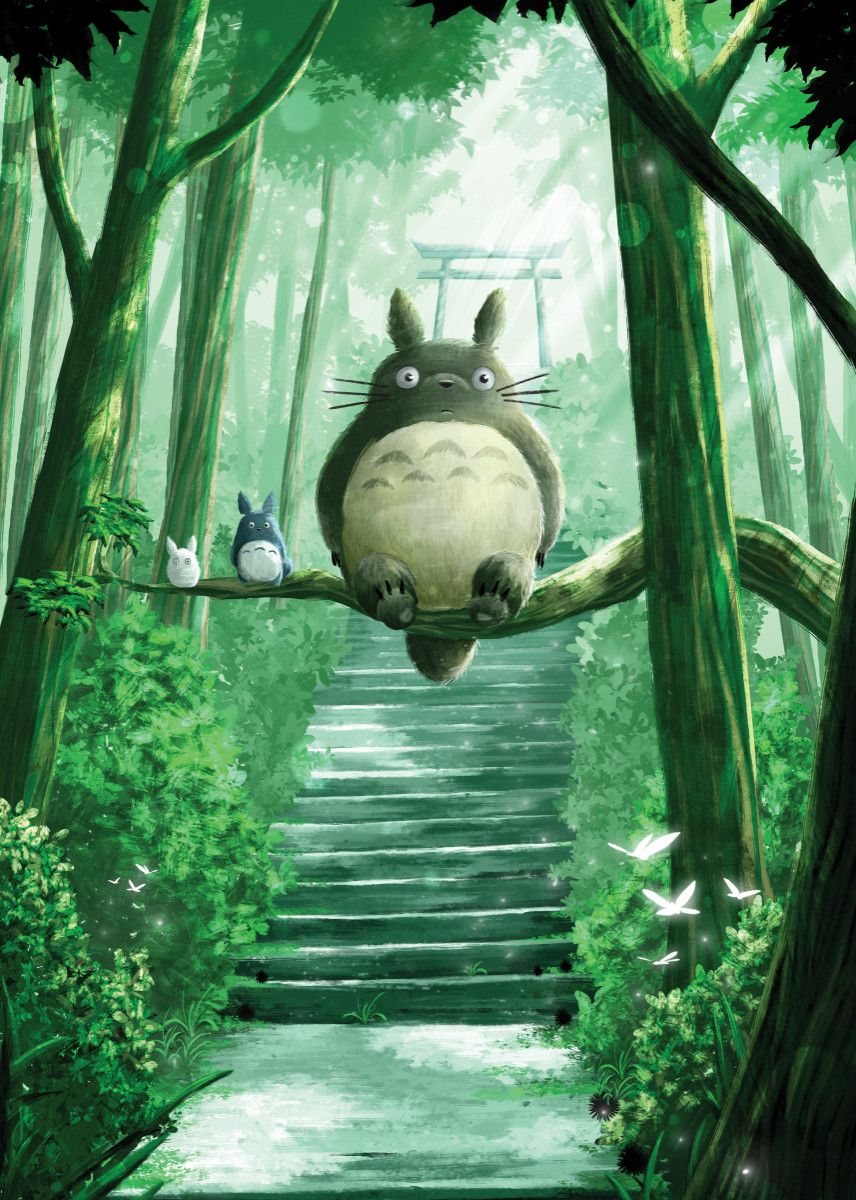 Photo of Forest Spirit Anime & Manga Poster Print   metal posters