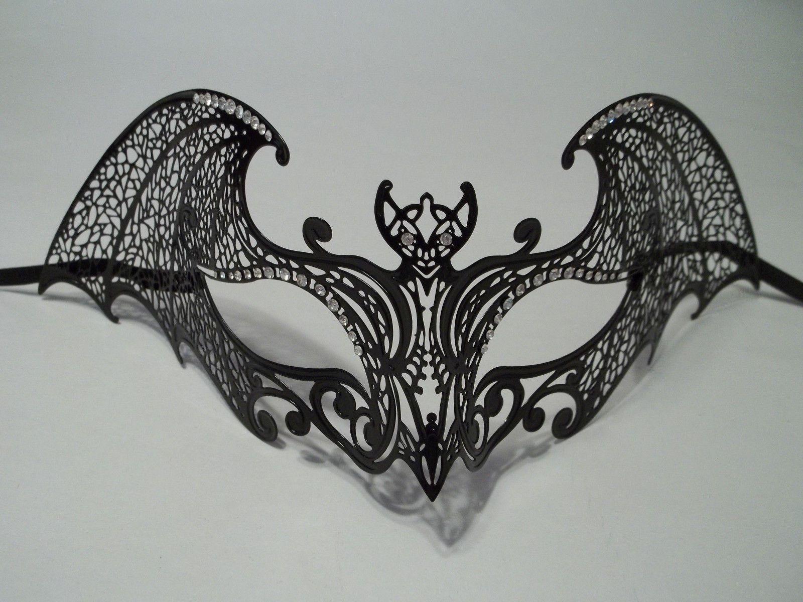 Bat Woman Light Metal Laser Cut Venetian Mardi Gras Masquerade Mask