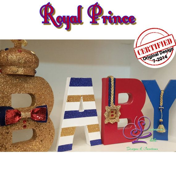 Royal Prince Baby Shower Letters By Sophisticatedlife On Etsy