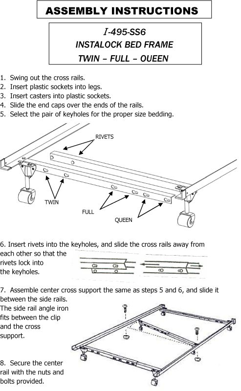 How to assemble the Mantua I-495P bed frame. http://www.matt-to-go ...