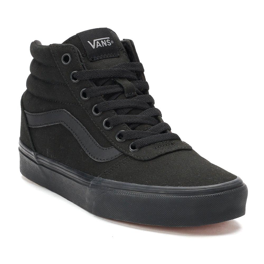 boys all black vans