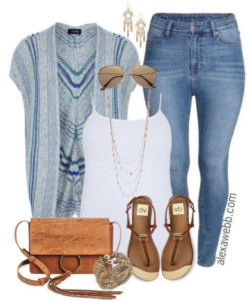 Plus Size Kimono & Jeans – Alexa Webb