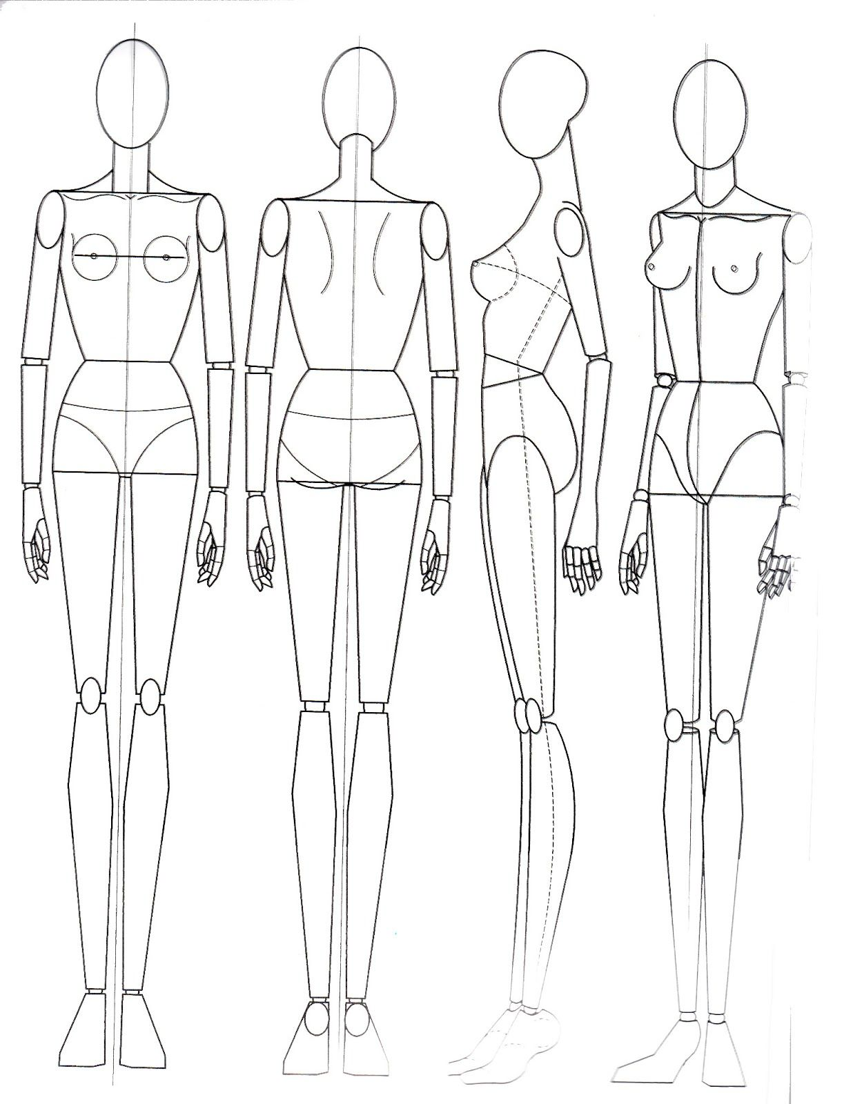 Paper Doll School: The Basics of Anatomy | Technical Drawings ...
