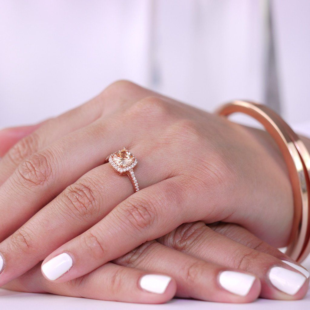 CHAMPAGNE HALO RING - Trove Candles | TROVE RINGS | Pinterest | Halo ...