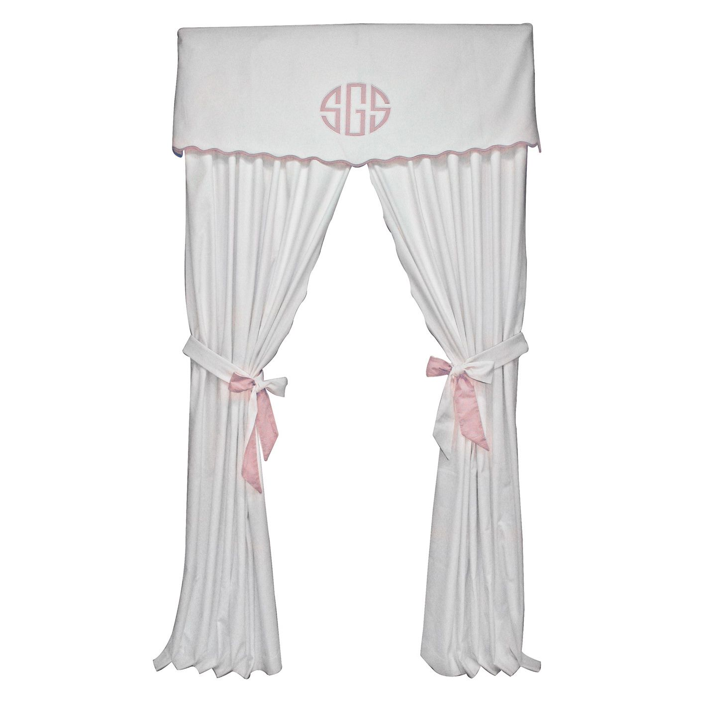 Babybeddingzone Palm Beach Pink Curtains 8 21 Closed
