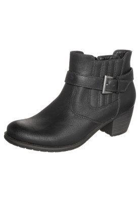 Botki Kowbojki I Motocyklowe Black Ankle Boot Shoes Boots
