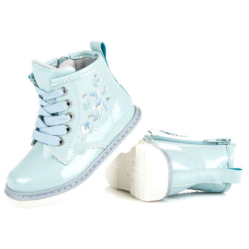 Polbuty I Trzewiki Dzieciece Dla Dzieci Americanclub Niebieskie Lakierowane Trzewiki American Club Wedding Sneaker Shoes Wedding Shoe