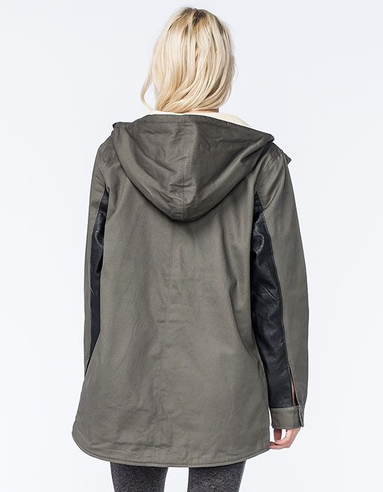 Rebel8 varsity womens parka jacket