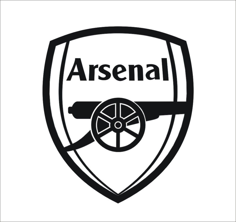 arsenal logo black and white png