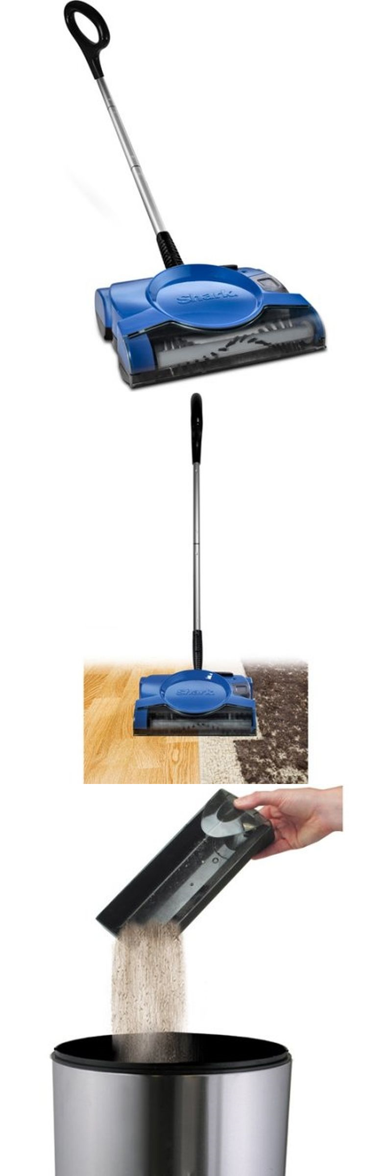 Carpet And Floor Sweepers 79657: Shark 10 Rechargeable Floor And Carpet  Sweeper, V2700z