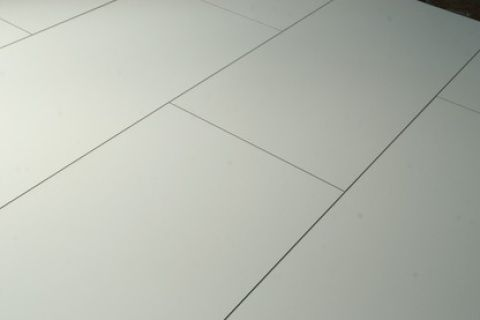 We Love This Stunning White Tile Effect Laminate Flooring That Has A