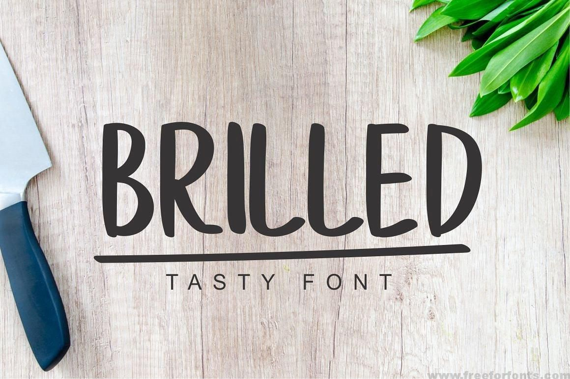 Brilled Font Delicious Font free download(画像あり)