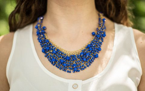 Cobalt Beauty Necklace $28.00 from LaMaLu.com