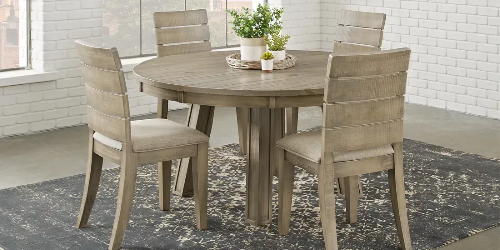 Crestwood Creek Gray 5 Pc Round Dining Room Rooms To Go Dining Room Sets Round Dining Room Rooms To Go Furniture
