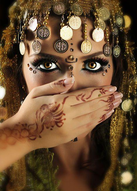Moroccan tribal head dress.