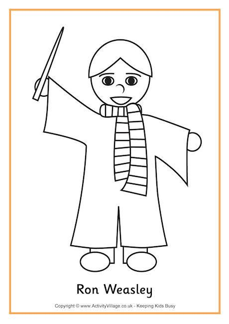 Ron Weasley Colouring Page 2 Harry Potter Coloring Pages Accio Harry Potter Coloring Pages