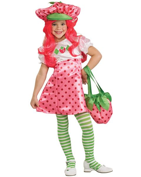 GIRL'S STRAWBERRY SHORTCAKE CHILD COSTUM