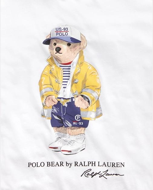 Polo Bear Crewneck Tee Ralph Lauren Logo Polo Design Bear Illustration