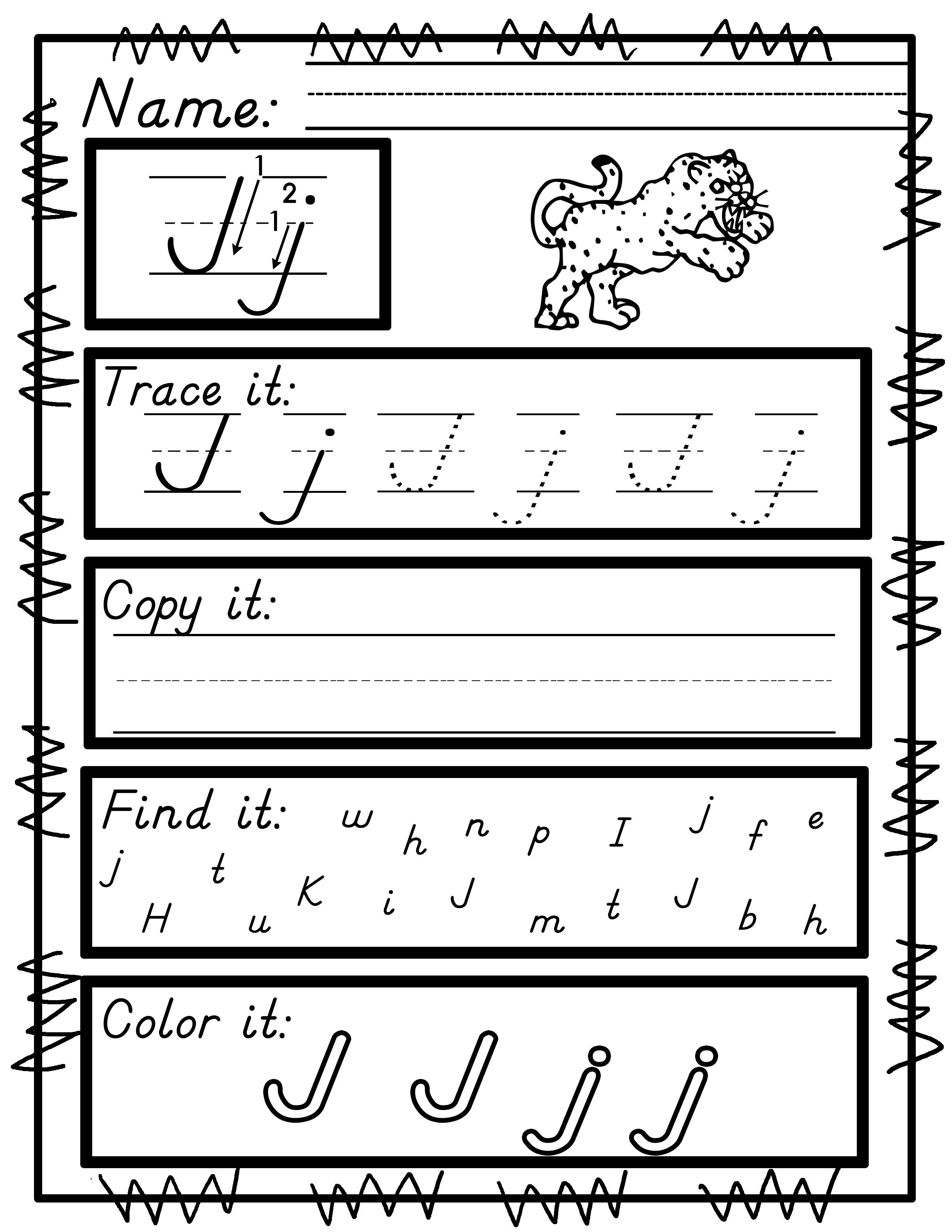 Worksheets For D Nealian M Cript Handwriting Practice