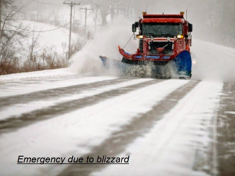 Emergency due to blizzard