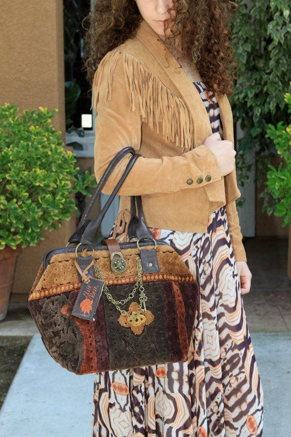 Renaissance Chenille Carpet Bag | Bags | Pinterest