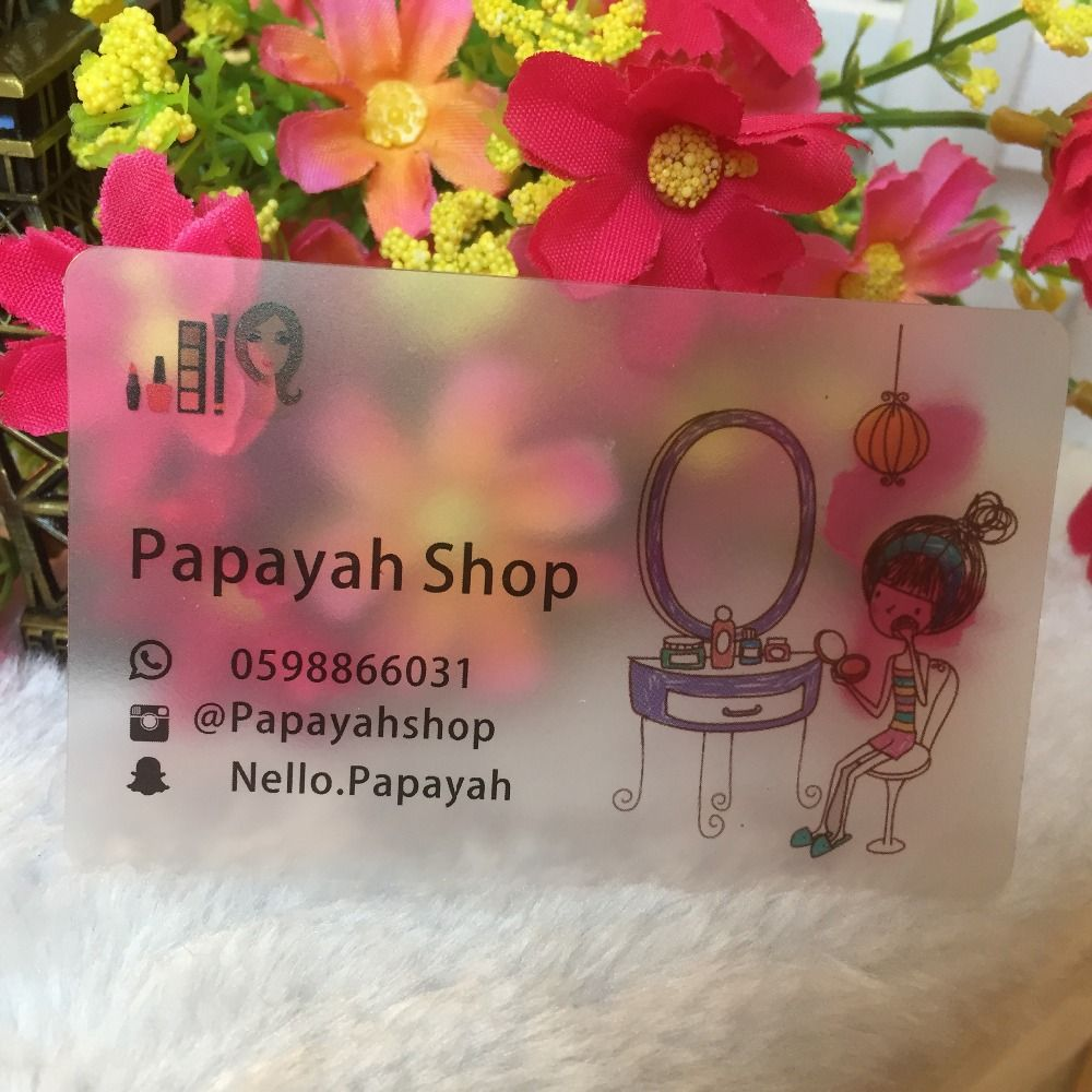Fashion PVC card, Free design,custom transparent business cards ...