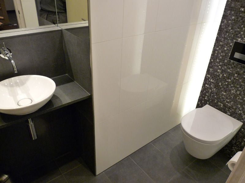 Moza ek en indirect licht toilet badkamer pinterest toilet and house - Wc mozaiek ...