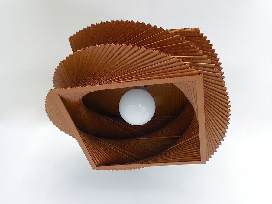 Lámpara de techo ecológica hecha de cartón ondulado Luminarias