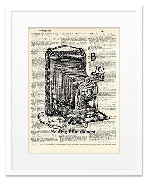 $7 on Etsy. Dictionary art. I am a little bit in love.