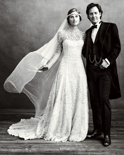 "Lauren Bush and David Lauren from Vogue's ""How the West Was Wed"""