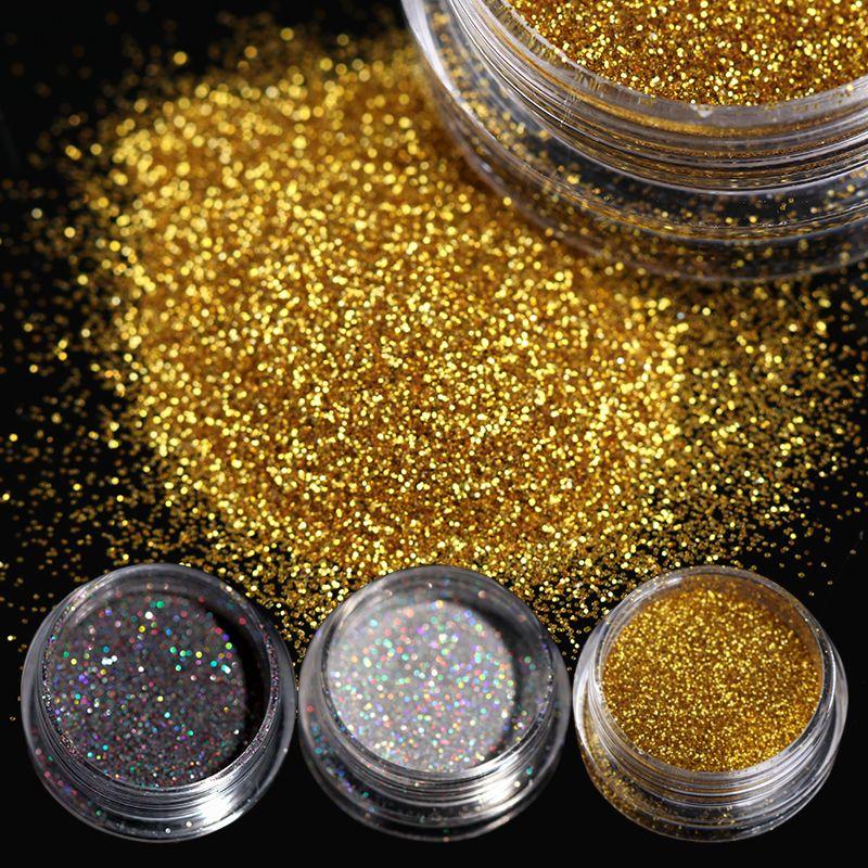 1Box Holographic Nail Glitter Powder Shining Sugar Nail Glitter Dust ...