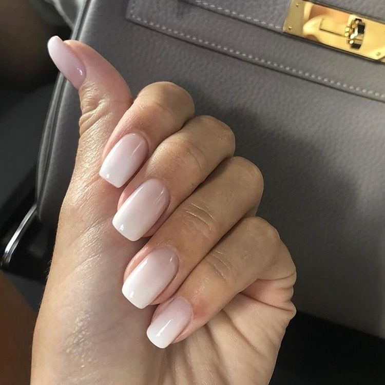 Neutral Nails With Images Ombre Acrylic Nails Pretty Nail